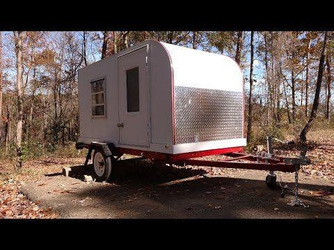 4x8 Homemade Camper Trailer Youtube Teardrop Camper Diy Camper Trailer Camper