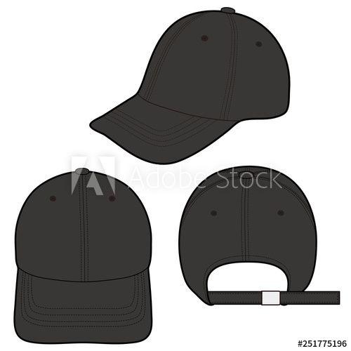 Baseball Cap Fashion Flat Vector Illustration Mockup Design Buy This Stock Vector And Explore Similar Vecto Fashion Flats Baseball Caps Fashion Mockup Design