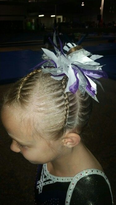 and challenge gymnastics meet hair