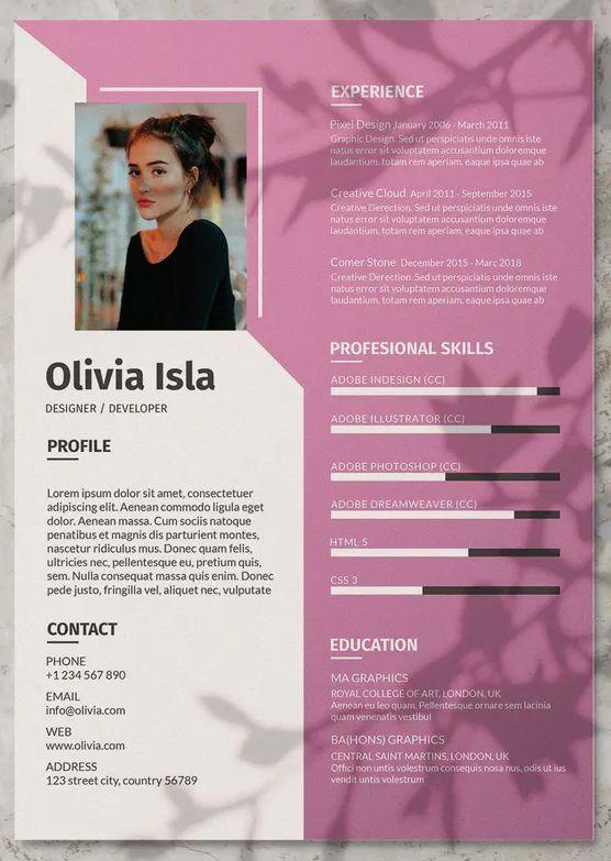 Asana creative resume cv template. Clean Cv Resume Template Ai Eps Resume Template Ideas Of Resume Template Resum In 2020 Graphic Design Resume Resume Design Creative Graphic Designer Resume Template