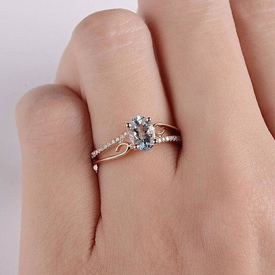 Rose Gold Sterling Silver Pink Teardrop CZ Anniversary Ring  Antique Style Engagement Ring  Artisan Jewelry  US Size 8