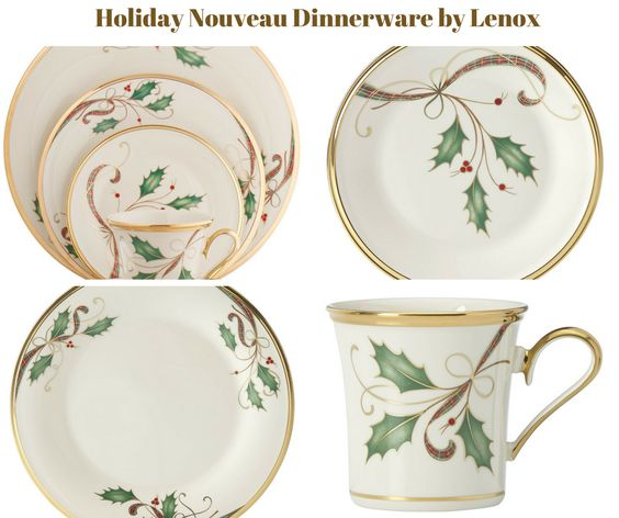 Holiday Nouveau Holly Gold Dinnerware by Lenox