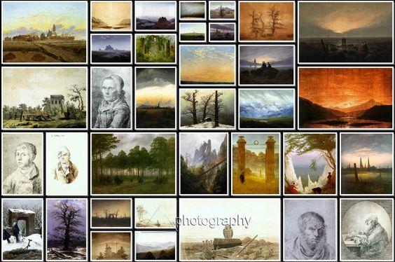 Caspar David Friedrich Paintings Collage-1