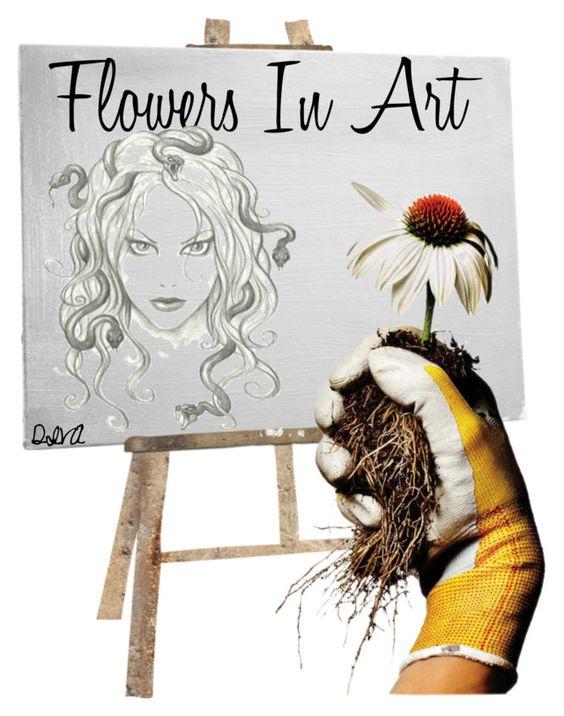 """""""ஜ Flowers In Art ஜ"""" by nelly-nedeva ❤ liked on Polyvore featuring art and 445"""