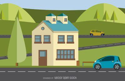 ilustración hogar moderno