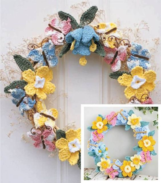 Crocheted Spring Wreath & Knit, Crochet & Needle Art Projects at Joann.com: