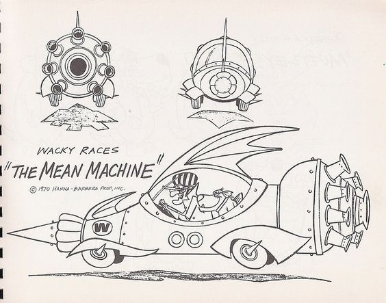 mean machine coloring pages