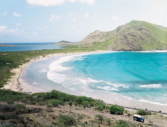 St. Kitts's Sandbank Bay is—at present—blissfully resort-free, and accessible only by car.