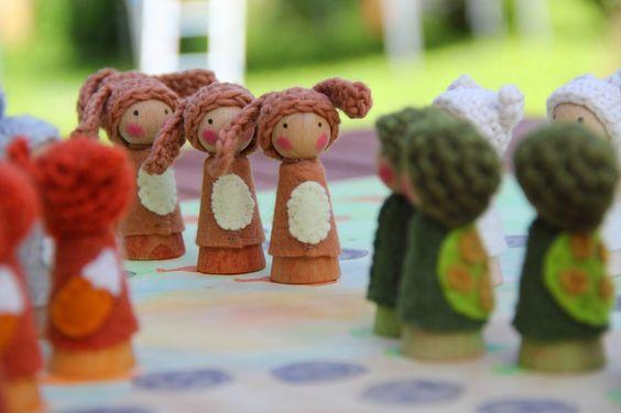Barbaras Blumenkinder und Puppen Welt: Tier-ärgere-dich-nicht...