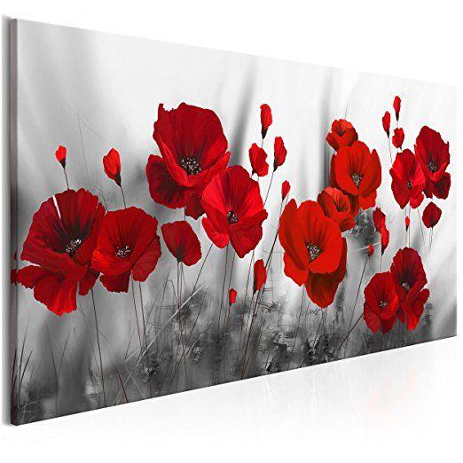 Decomonkey Bilder Blumen Mohnblumen Rot 100x45 Cm 1 Teilig Leinwandbilder Bilder Vlies Leinwand Bilder Wand Bild Auf Leinwand Wie Man Blumen Malt Protea Art Und Blumen Kunst