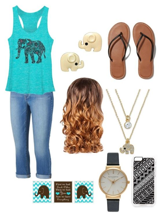 """Elephants"" by absabarnard ❤ liked on Polyvore featuring Jennifer Lopez, Abercrombie & Fitch, ABS by Allen Schwartz, Lipsy, Zero Gravity and Olivia Burton"