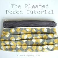 Pleated Pouch Pattern Pieces - via @Craftsy