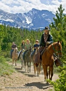 [Colorado's Top 13 Family Vacation Ideas for Summer 2013] ...  Horseback riding in Rocky Mt. National Park - an amazing experience