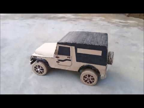 How To Make An Rc Jeep From Cardboard Rc Mahindra Thar 2010 Part 2 Youtube In 2021 Rc Jeep Cardboard Mahindra Thar