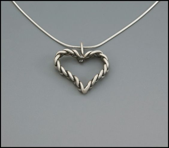Braided Heart handmade Sterling Silver by designsbyanke on Etsy