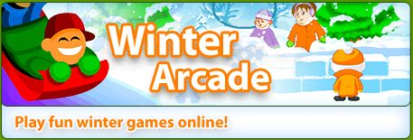 Winter Arcade games with a snowy feel