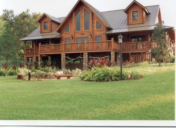Cabin pictures and logs on pinterest for Large luxury log homes
