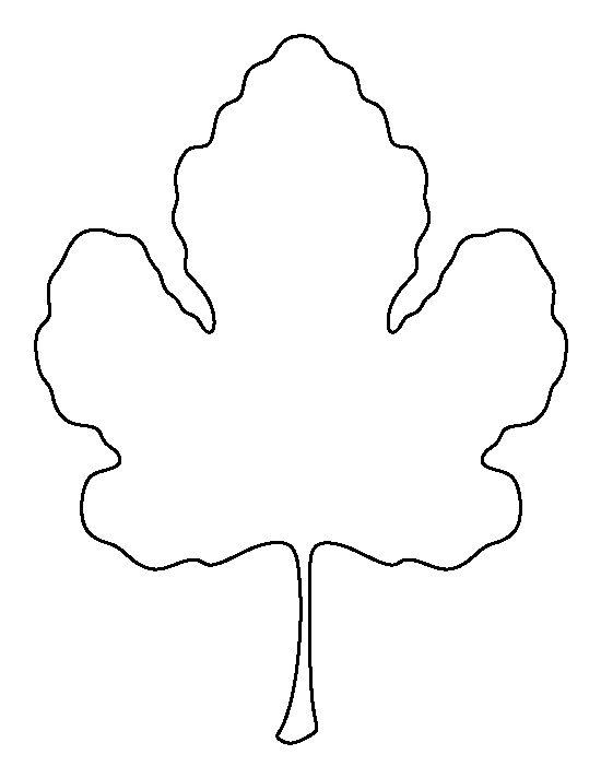 Fig leaf pattern Use the printable outline for crafts, creating - leaf template