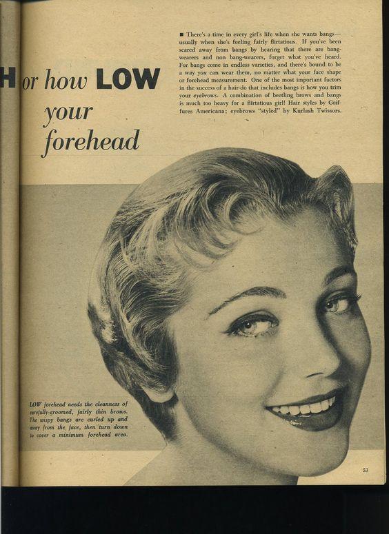 1950s bangs