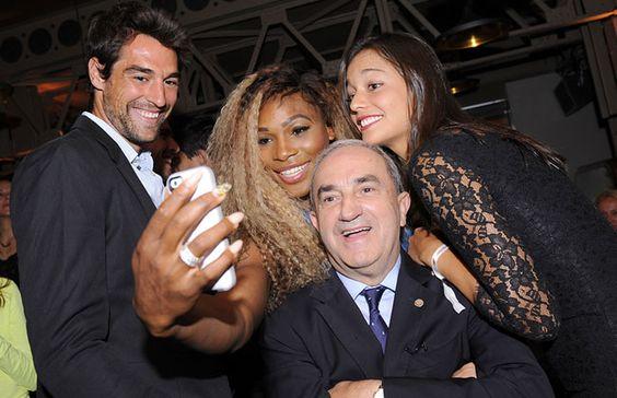 Serena Williams en compagnie de Jean Gachassin. ©FFT