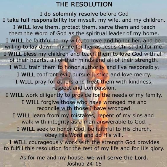 The Resolution for Men.  This is my road map for daily living.   www.facebook.com/CoachNateEvans