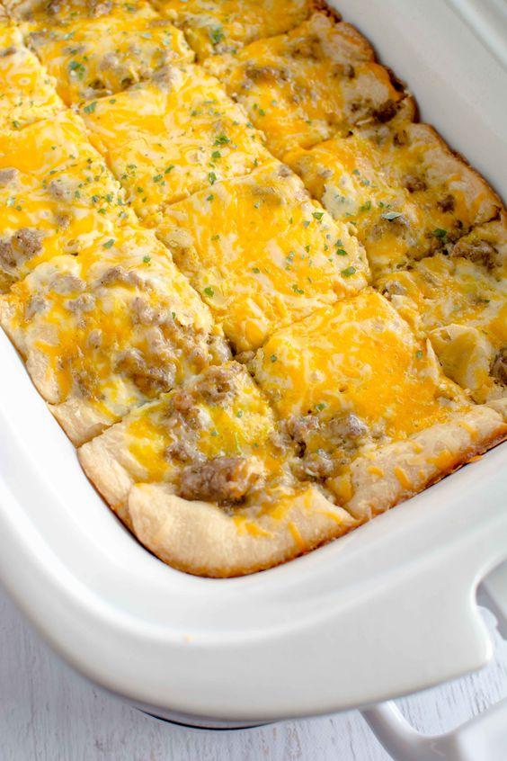 Slow cooker easy breakfast casserole recipe crockpot for Crockpot breakfast casserole recipes