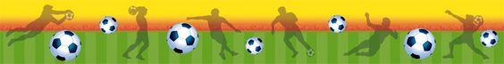 Bordüre: Fußball WM 2014 Brasil • Mein Bordürenladen - jetzt auf Dawanda