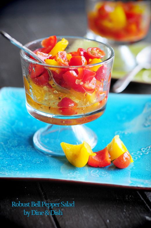 Robust Bell Pepper Salad - a simple and unique side dish for a party or barbecue! From @DineandDish