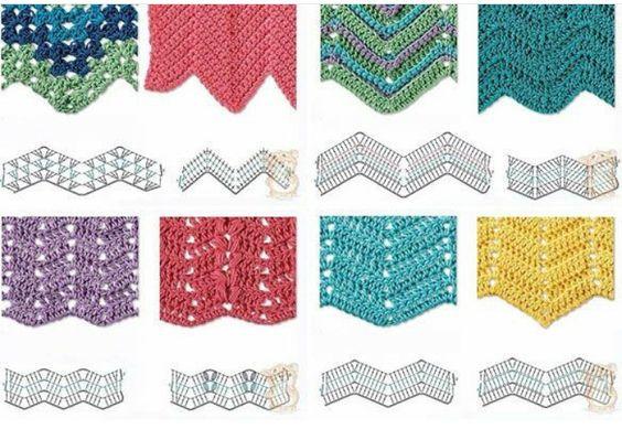 Resultado de imagen de zig zag crochet diagram