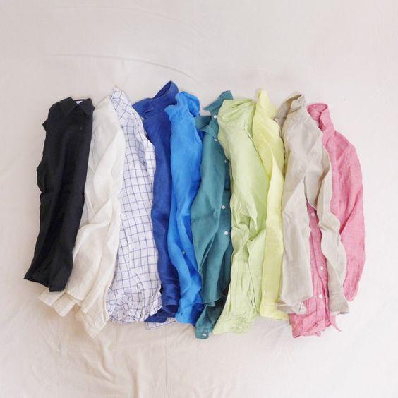 モコーデ: ユニクロリネンシャツとZARAミモレ丈スカートの大人な秋ブルーコーデ 8月17日:
