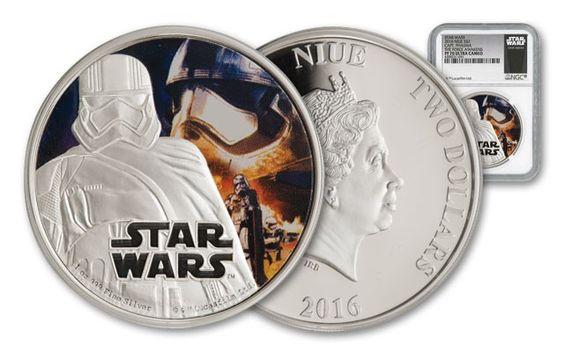 2016 Niue 2 Dollar 1-oz Silver Star Wars Captain Phasma NGC PF70UCAM