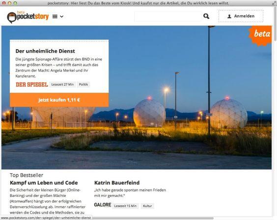 Pocketstory: Online-Kiosk für einzelne Print-Texte gestartet - SPIEGEL ONLINE - Netzwelt