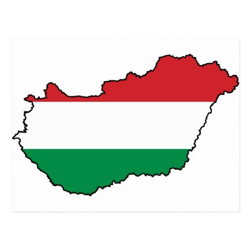 Hungary Flag Map Hu Postcard Zazzle Com In 2020 Hungary Flag Postcard Flag