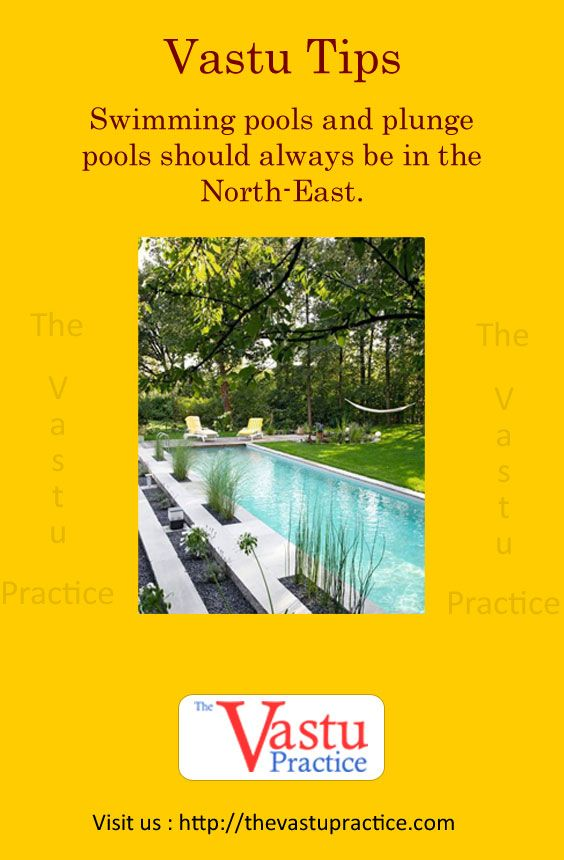 Swimming Pools And Plunge Pools Should Always Be In The North East Vastu House Indian House Plans Vastu Shastra