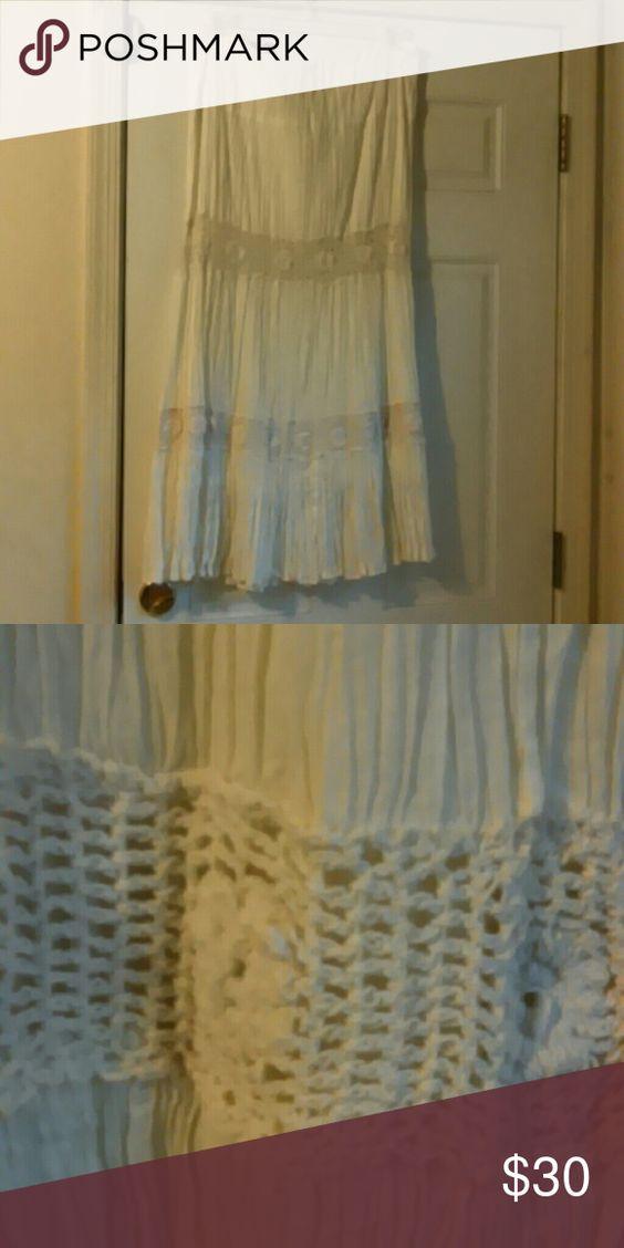 Beautiful Gauze cream colored maxi skirt with