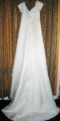 SOLD! Lovely Beaded White Wedding Gown With Train Size 14 Ships Free Price:US $45.99