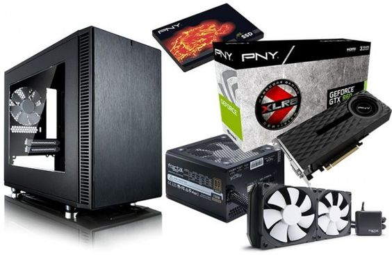 Giveaway: Define Nano S hardware upgrade – Pintereste – Prizes: Kelvin S24 CPU cooler, Integra M 750W PSU, PNY CS2111 240GB SSD, PNY GeForce GTX 960 OC graphics card. #computer #game #giveaway