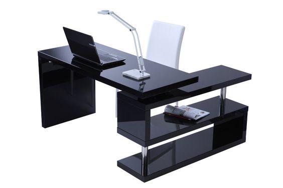 Miliboo  Scrivania design laccata nera MAX Amazonit Casa e cucina