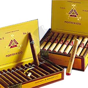 Montecristo No. 2 Cigars - 6x50, Box of 25 - Montecristo Cigars - Hand Rolled Cigars Top Hat Tobacco