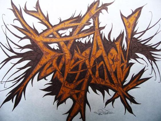 Step by step how to draw cool graffiti writing letters funky a z s