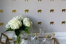 Elephant Preppy Pattern Wall Decals - Southern Nest