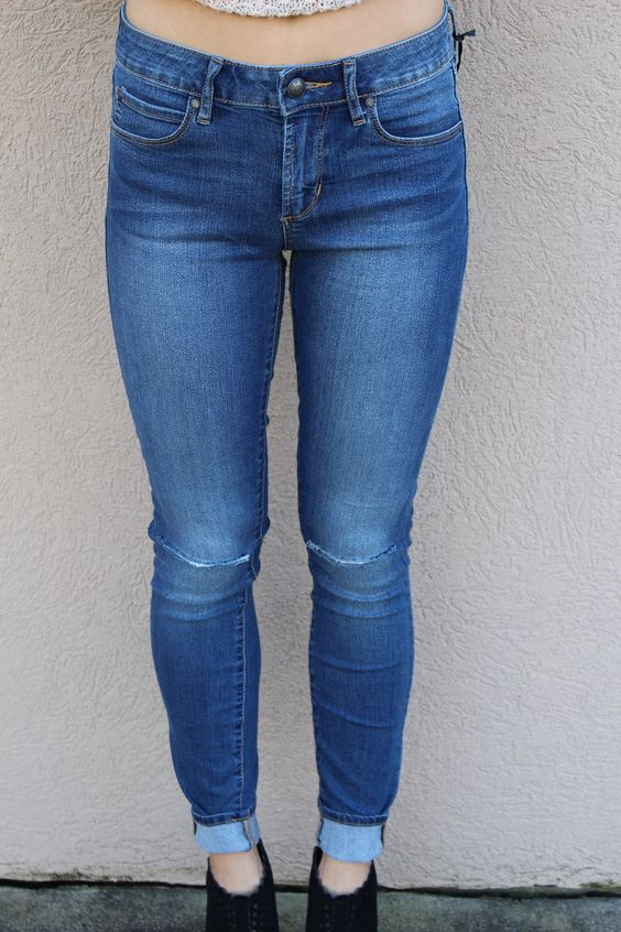 AOS Ripped at Knee Skinny Jeans