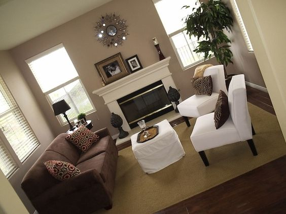 Beige Walls Brown Couch For The Home Pinterest