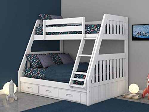 Discovery World Furniture Twin Over Full Bunk Bed With 3 Drawers
