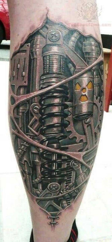 Richtig abgefahrene Biomechanik Tattoos