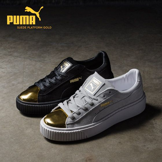 23407a1ddba Puma Suede Platform Gold Speckled Black consumabulbs.co.uk