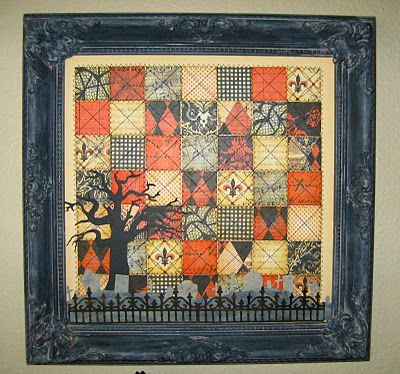 Halloween paper quilt. I need to make one!