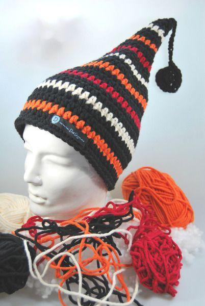 Mützen - OktoberNacht Zipfelmütze Mütze gestreift - ein Designerstück von DaiSign bei DaWanda