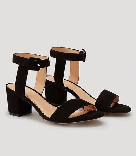 Image of Stacked Heel Sandals color Black
