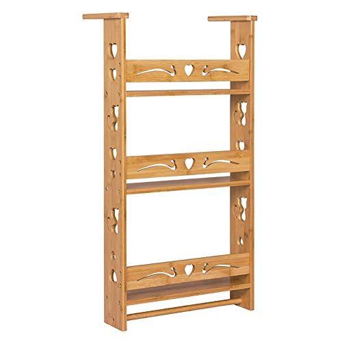 Kitchen Shelf Bamboo Seasoning Rack Standing Household Storage